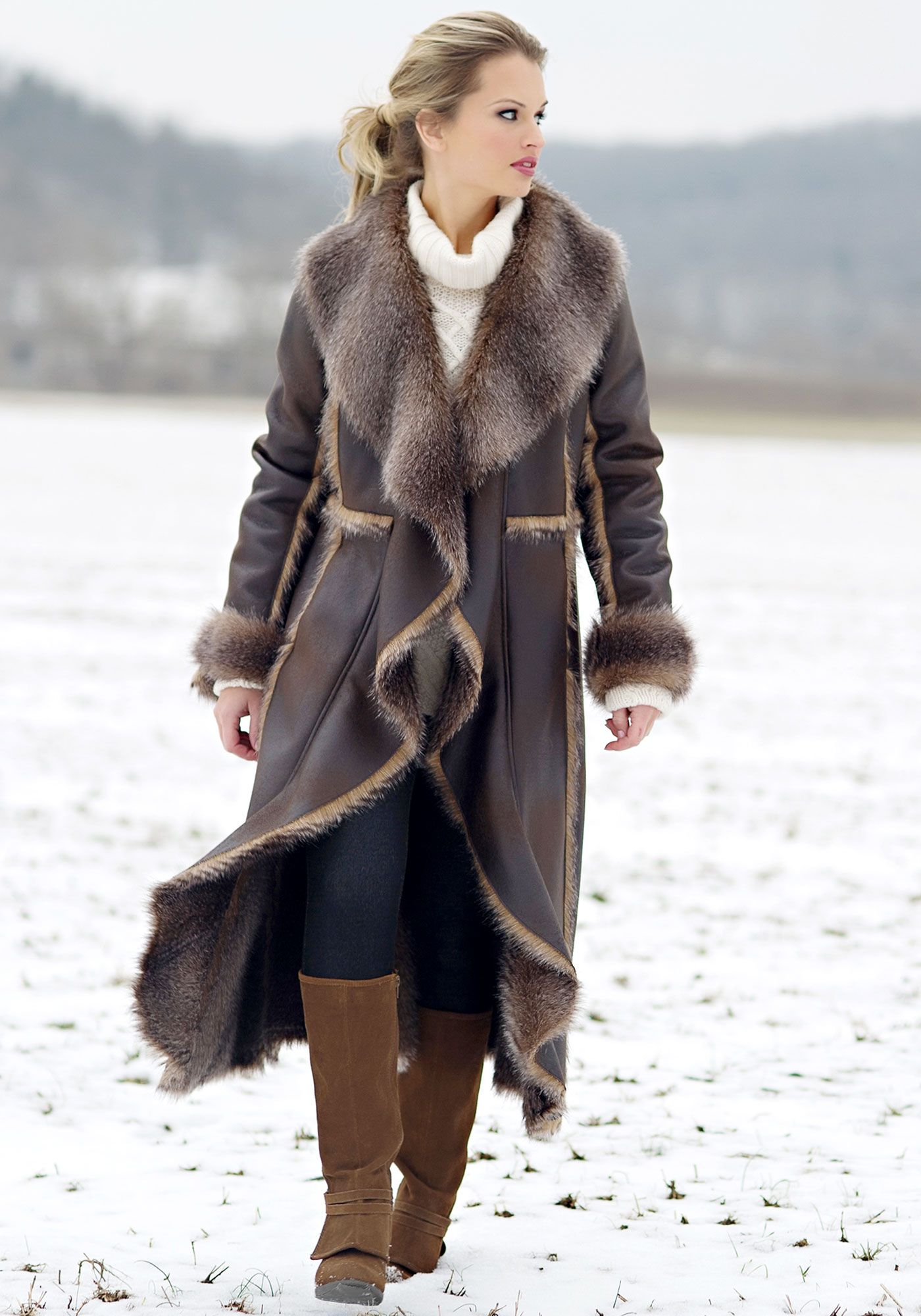 10 Best images about Faux Fur on Pinterest | Coats Taupe and