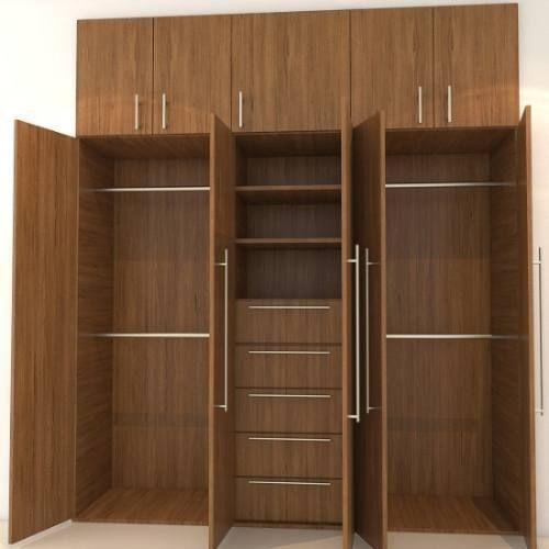 Cocina empotrada economica moderna closet muebles de for Closet de madera para dormitorios