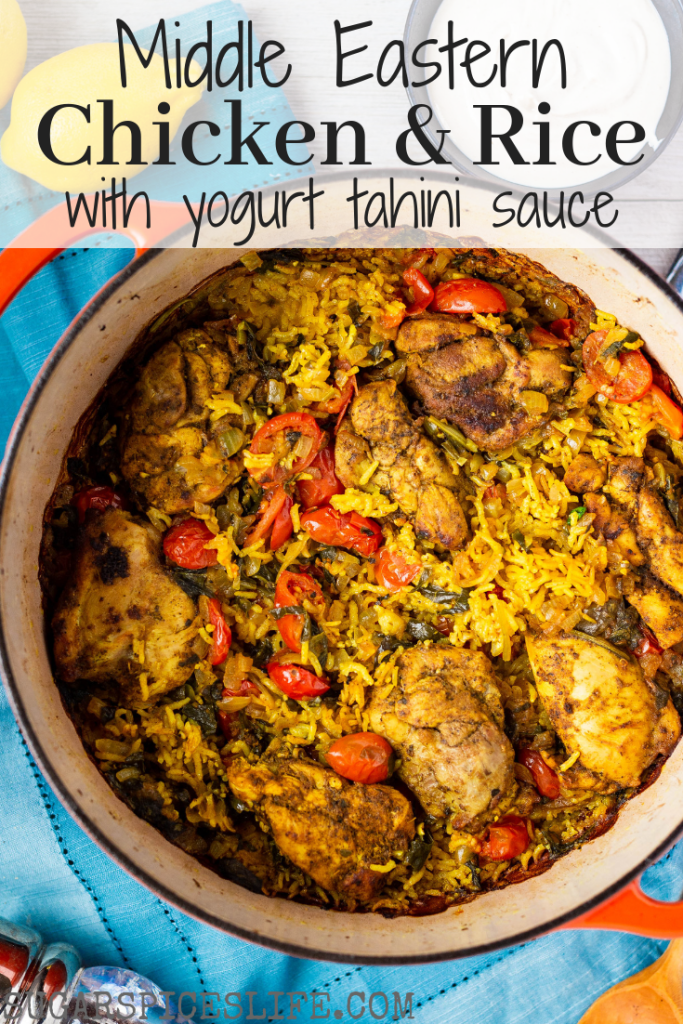 Middle Eastern Chicken And Rice With Tahini Yogurt Sauce Recipe Eastern Cuisine Middle