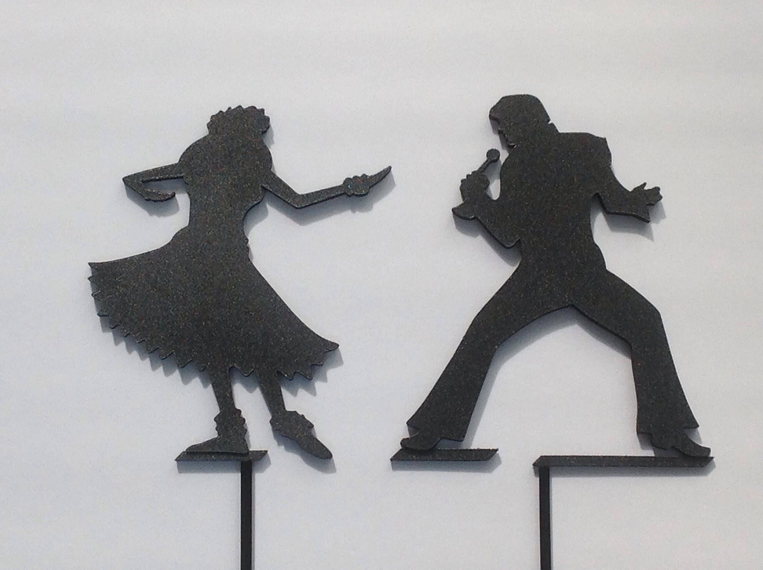 Custom Silhouette Figure Wedding Cake Toppers | Cake Toppers ...