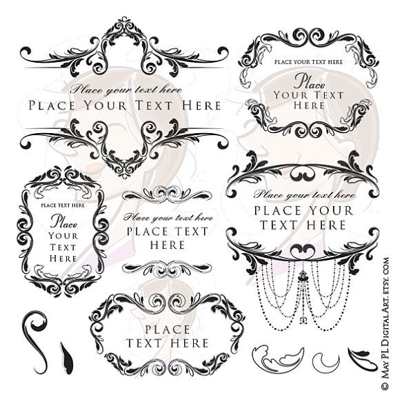 Flourish frame clipart digital floral vector by maypldigitalart flourish frame clipart digital floral vector by maypldigitalart invitation stopboris Image collections