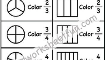 Coloring Fractions - Halves, Thirds, Fourths, Fifths, Sixths ...