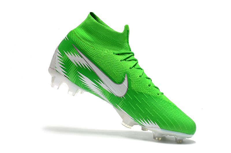 9ddeb9e0825 NK Mercurial Superfly VI 360 Elite Neymar FG Soccer Cleats-Green