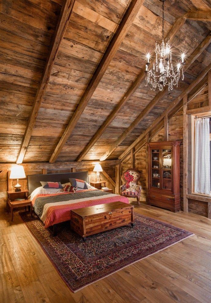 35 Inspiration für rustikale Schlafzimmerdesigns #stainedwood
