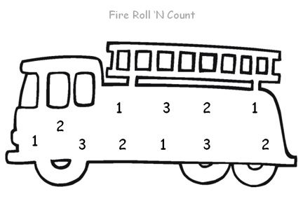 fire safety math game, see link for directions. via @pre-kpages.com