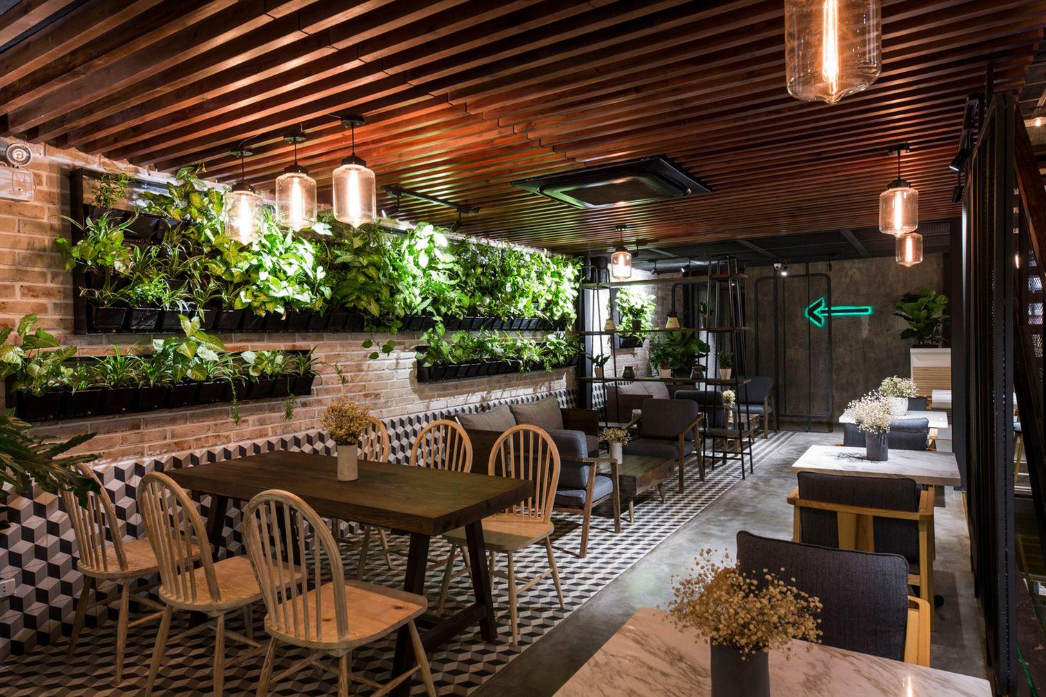 Le House Designs A Secret Garden Cafe In Hanoi Garden Cafe Cafe Design Cafe Interior Design