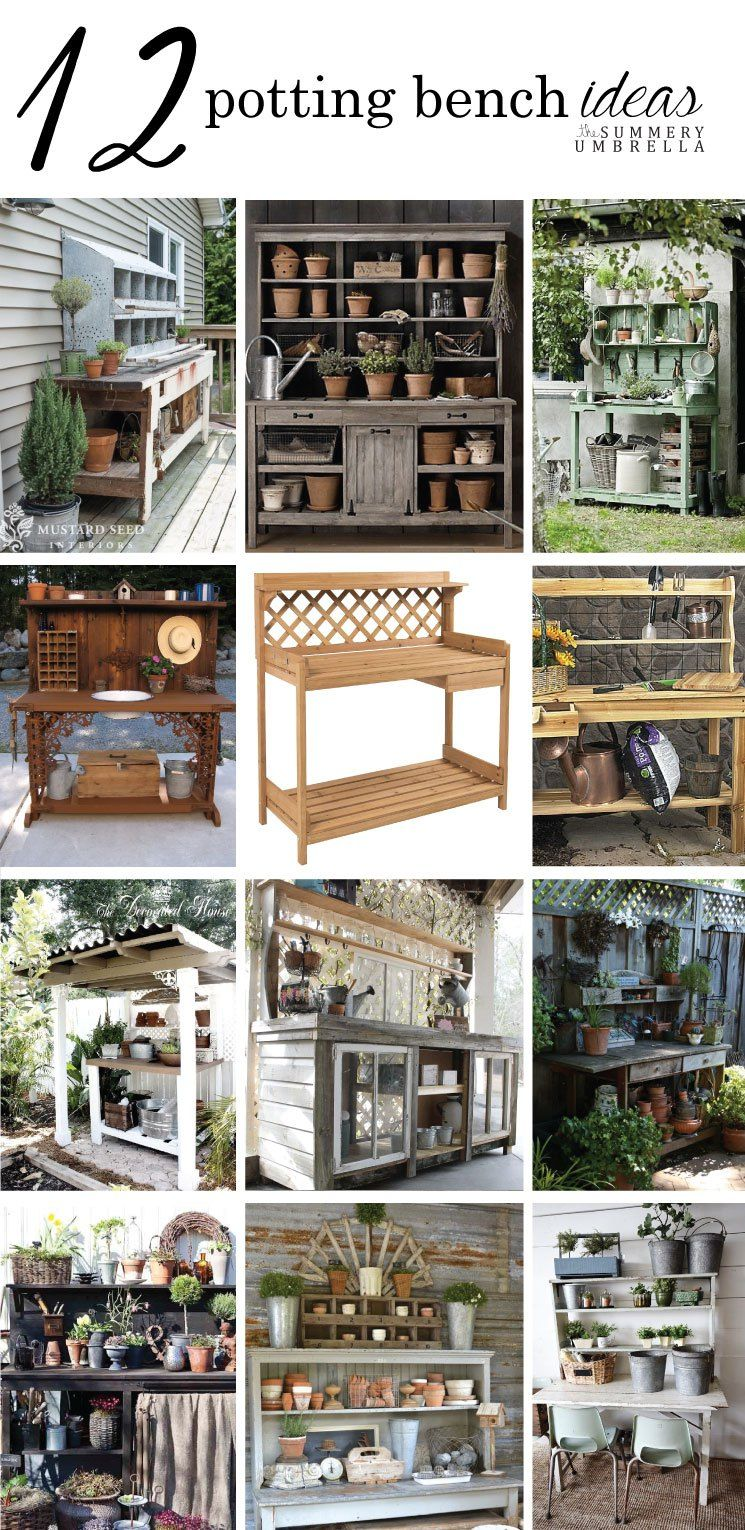 12 Rustic Garden Potting Bench Ideas With Images Rustic