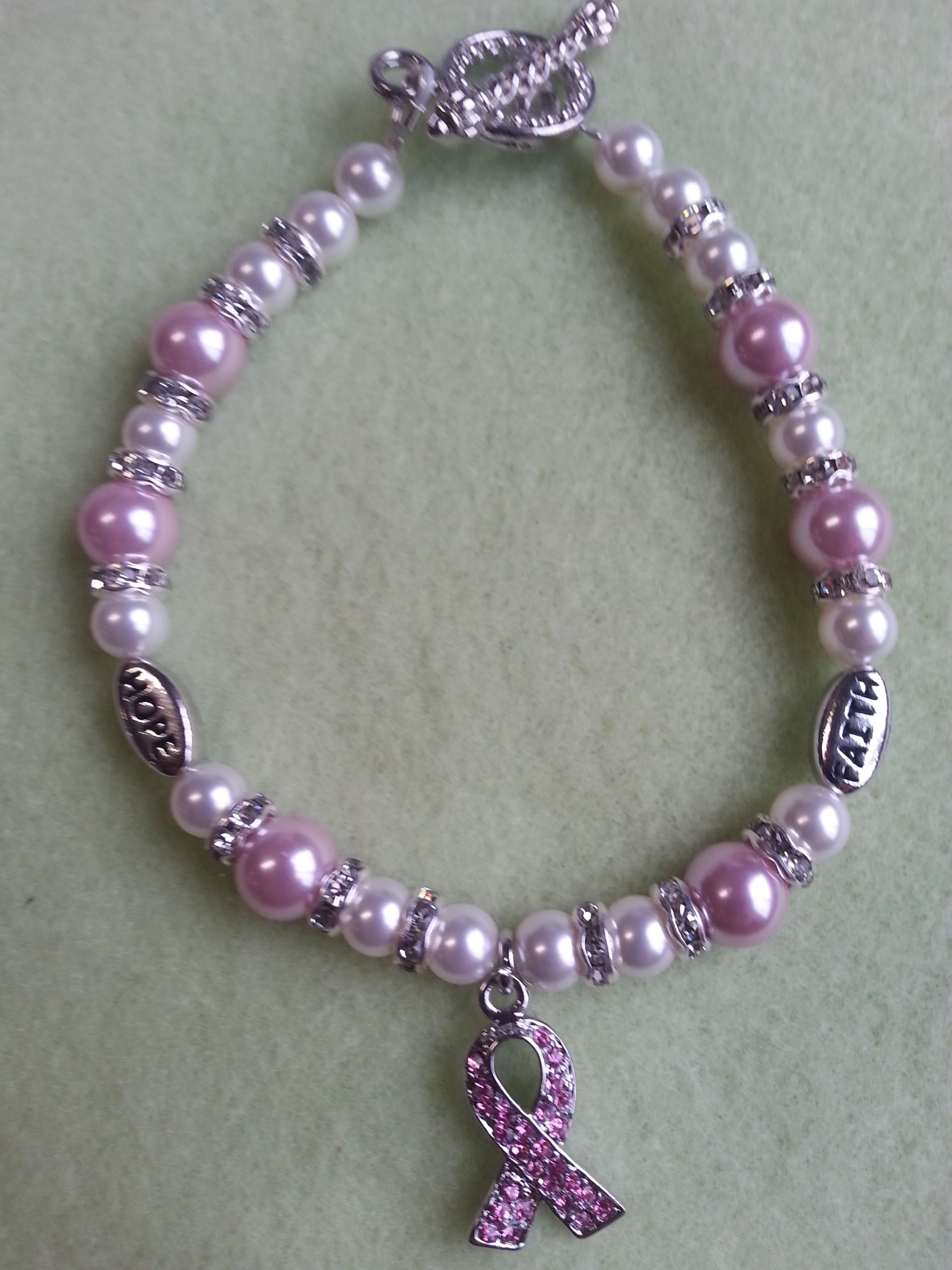 silver diamond products awareness bcaimg diamonds fb support includes breast cancer bracelet