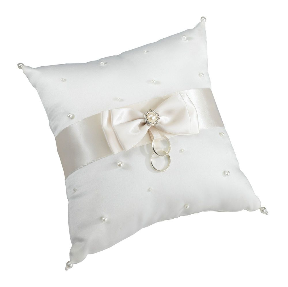 Beautiful new wedding ring pillow scattered pearl pillow ivory