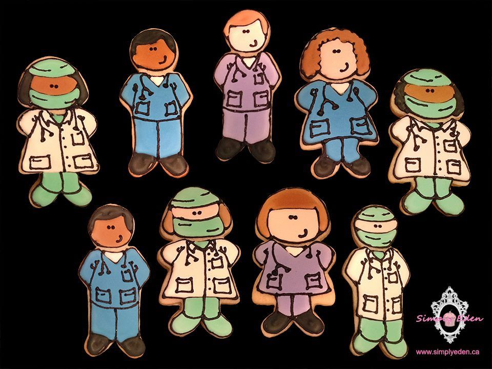 Surgeon and Nurses Cookies by Simply Eden http://www.simplyeden.ca/index.html