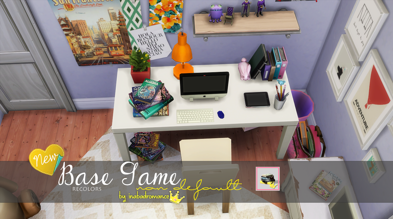 My sims 3 blog sims 3 collage wall decor by michelleab - Deco Books Scholarly Stack At In A Bad Romance Via Sims 4 Updates