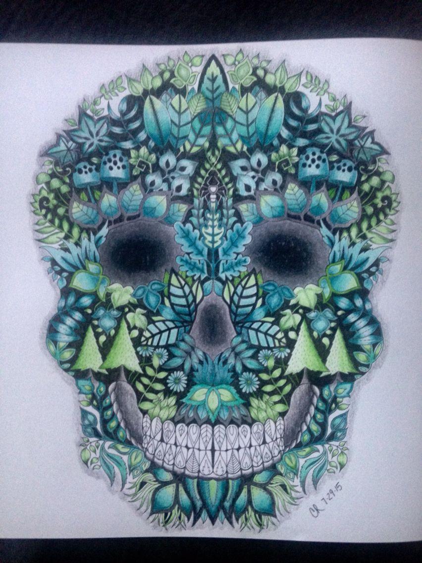 Johanna Basford Enchanted Forest Skull