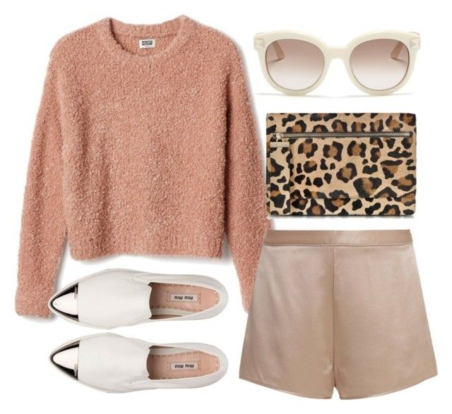 """""""Untitled #80"""" by hyovely ❤ liked on Polyvore featuring MTWTFSS Collection, T By Alexander Wang, Valentino, Gérard Darel, Miu Miu, Sweater, Prada, miumiu and LeopardPrint"""