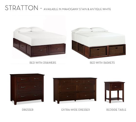 Stratton Storage Bed With Baskets King California King Pure