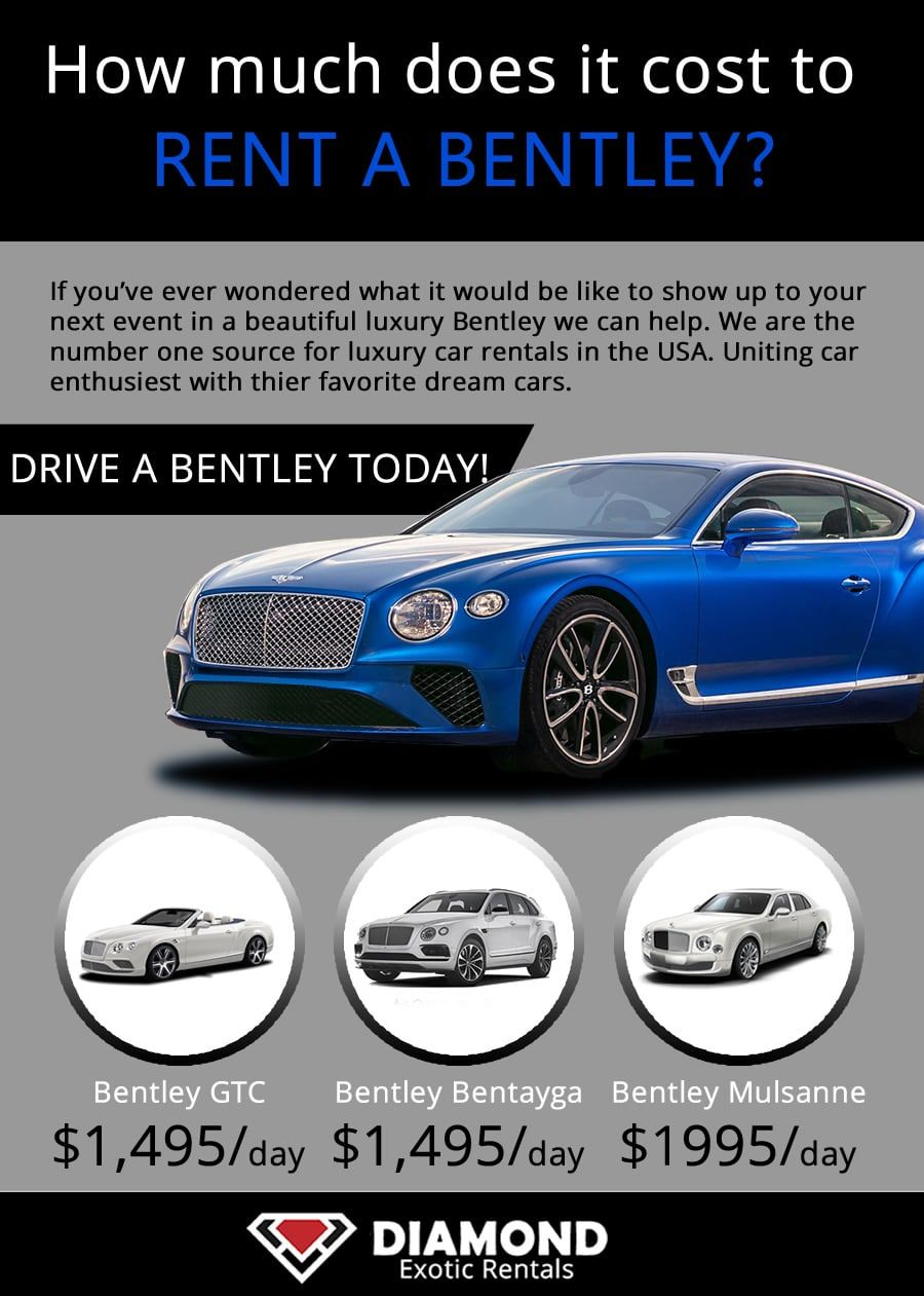 Bentley Rental Prices at Bentley, Luxury car rental, Car