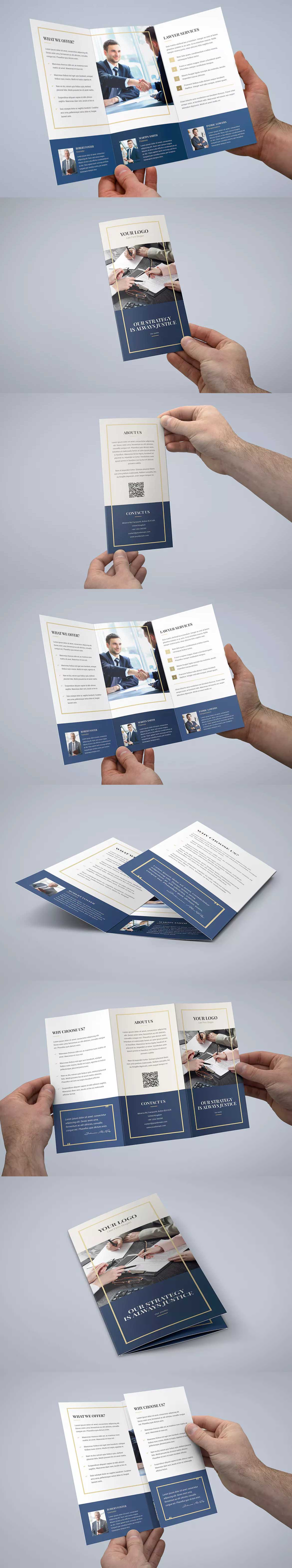 Law Firm Tri Fold Brochure Template Psd A4 And Us Letter Size