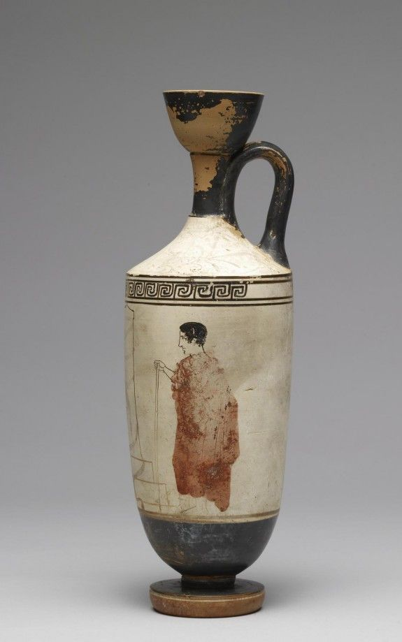 White Ground Lekythos Ancient Greek Art Greek Art Therapeutic Art Projects