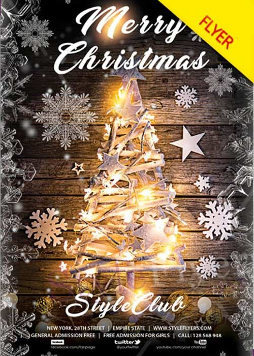 Merry Christmas V32 Flyer PSD Template Free Download Merry - christmas template free