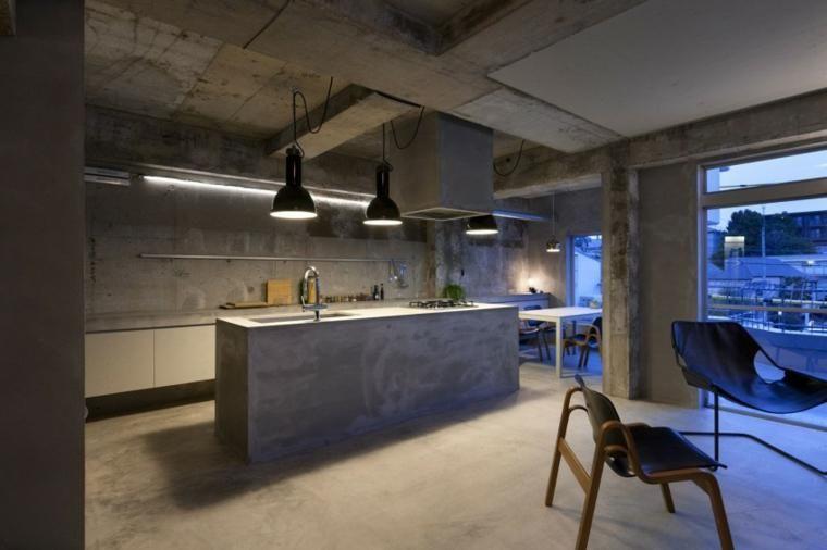 Optische Effekte bei der Verwendung von Beton in Wänden 67 Ideen - wohnzimmer deko wand