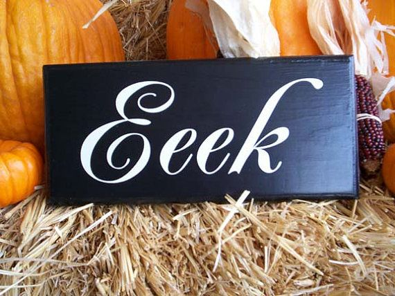 handcrafted halloween sign wall decor