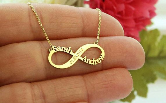 Infinity Necklace Custom Necklace Gift For Wife Personalized Jewelry Gift For SomeOne Special Personalized Infinity Name Necklace