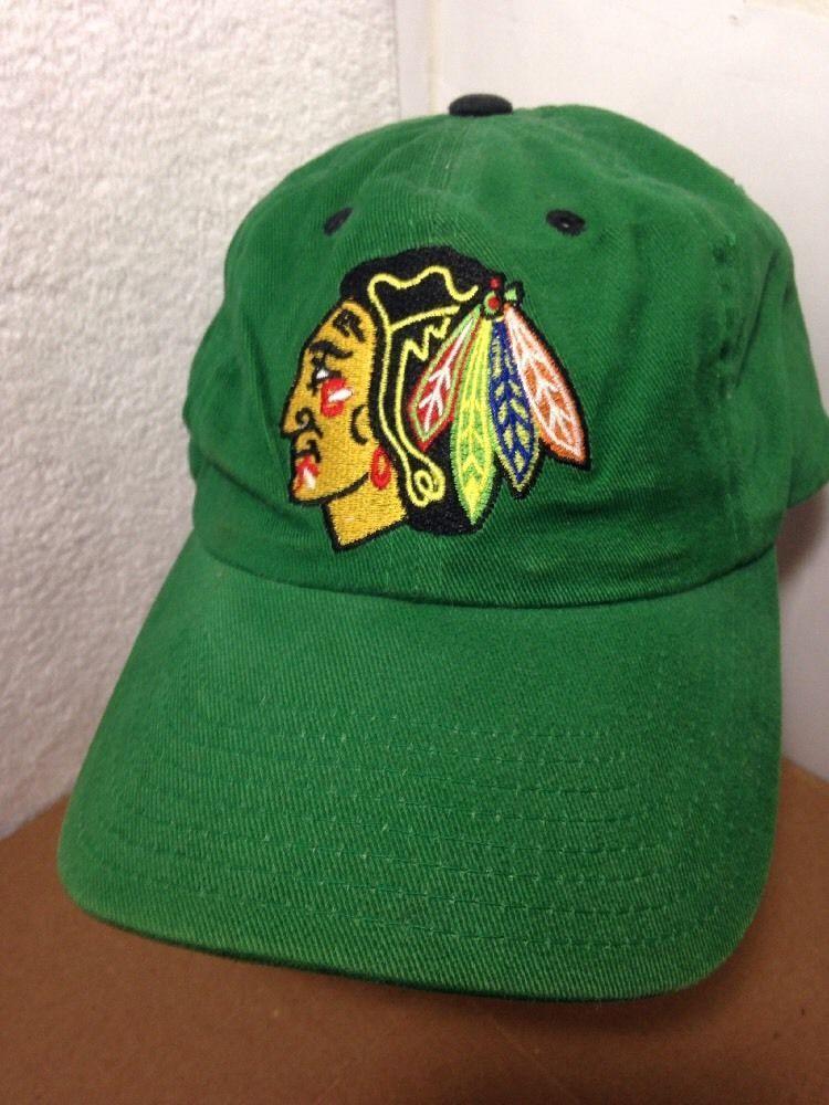 059f7cc143f Chicago Blackhawks Hockey Hat Cap Miller Lite Beer Snapback St Patrick s  Green  Kick10  ChicagoBlackhawks