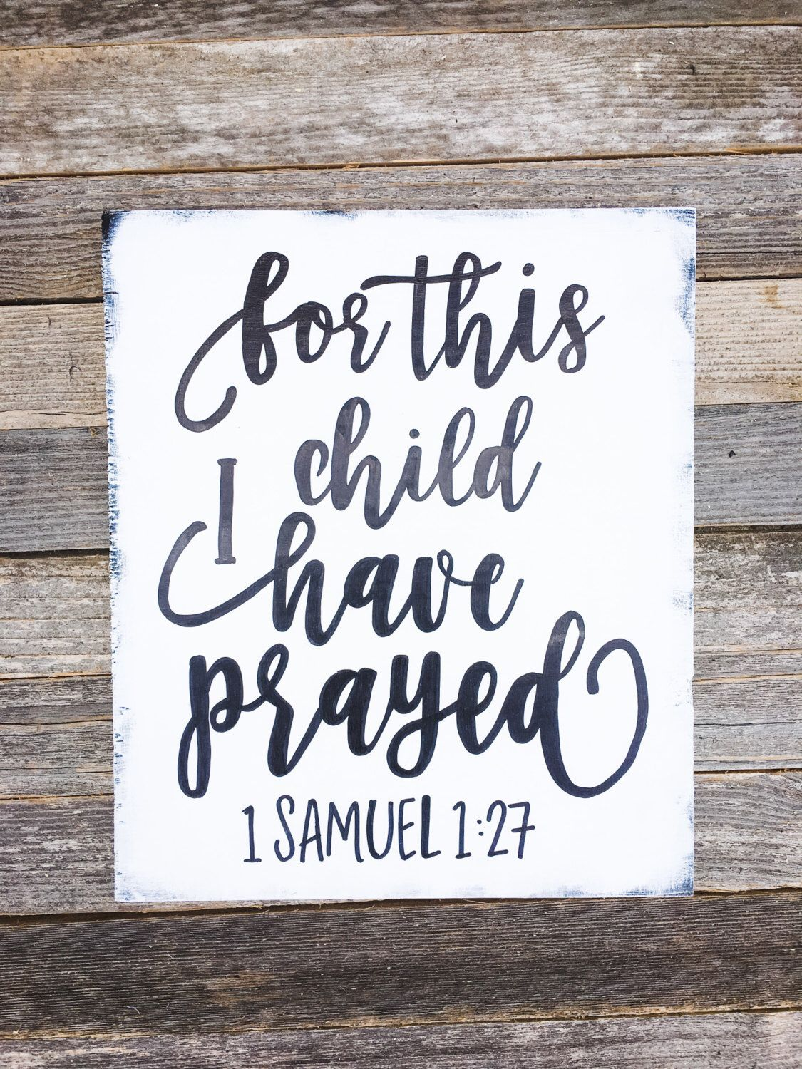 For This Child I Have Prayed Sign, 1 Samuel 1:27, Nursery Decor