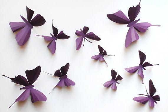 3D paper butterfly sticker wall sticker baby by weiweidecorations, $16.00