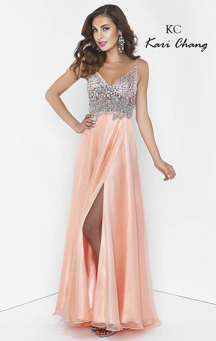 Kari chang yl prom dress sheer top stunning prom dresses