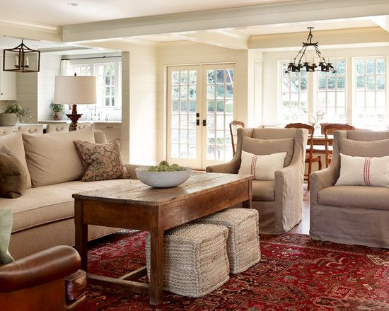 Fresh Farmhouse Family RoomsCountry Living RoomsLiving Room RedLiving