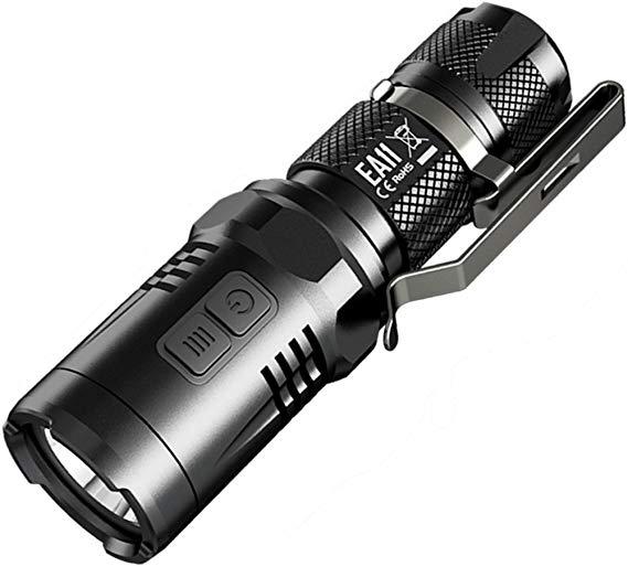 Amazon Com Nitecore Ea11 14500 Battery Cree Xm L2 U2 900 Lm Led Flashlight With Secondary Red Output Black Left Right Sports Flashlight Led Flashlight Cree