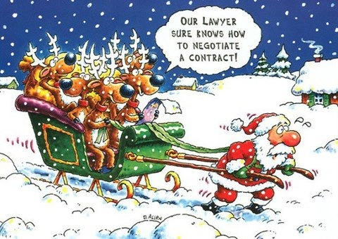 Lawyer Reindeer Santa Claus Sleigh Funny Christmas Cartoons Funny Christmas Jokes Funny Christmas Pictures