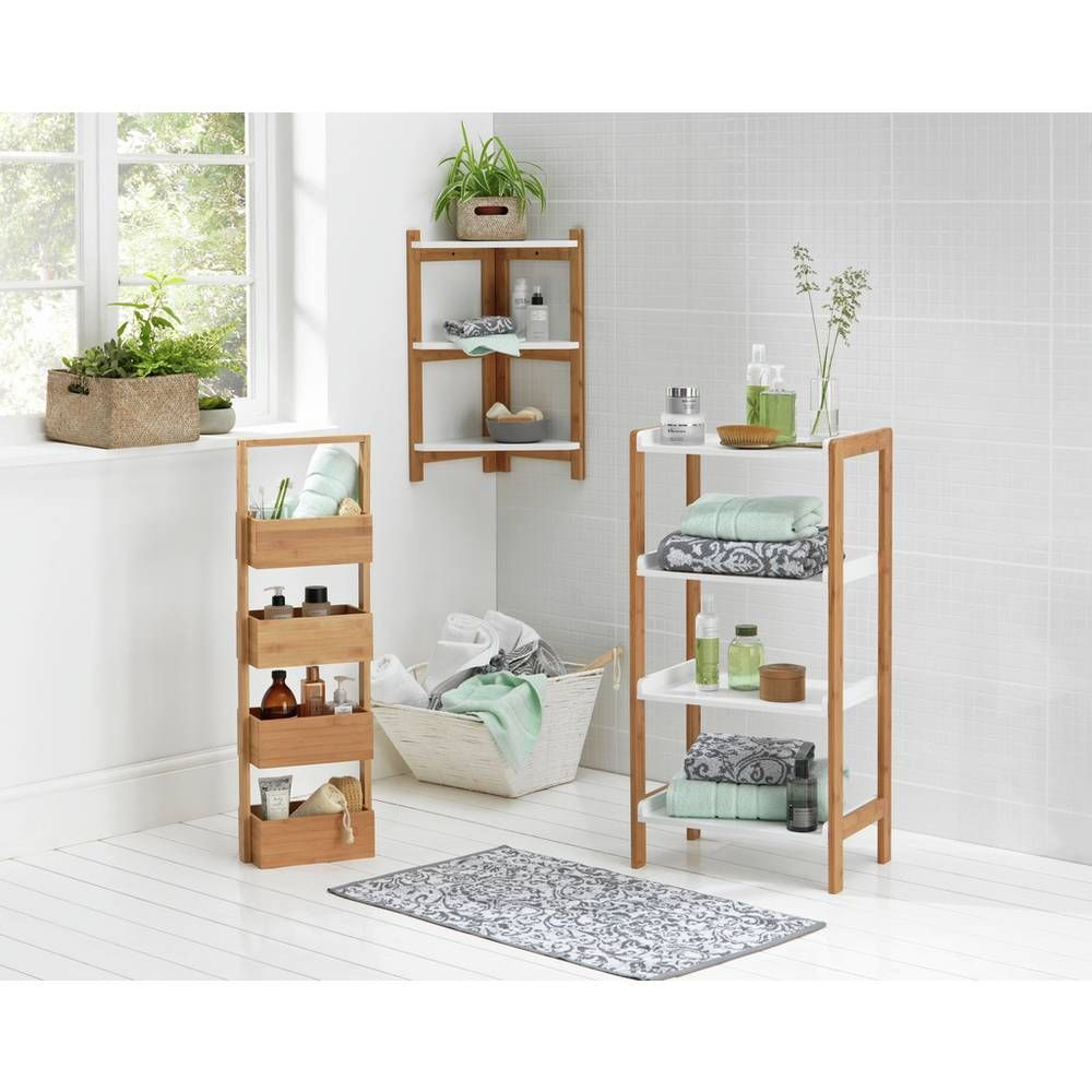 Buy Argos Home Freestanding Bamboo Bathroom Storage Caddy Bathroom Shelves And Storage Units Bathroom Shelving Unit Bamboo Bathroom Bathroom Storage Caddy