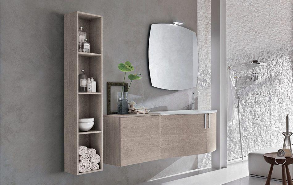 Mobile bagno bathroom furniture colonna sospesa a giorno ghiristo