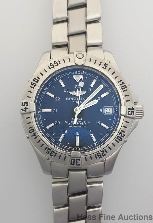 Breitling Midsize Mens Automatic Chronometer Watch A17350 for Woman or Man #Breitling
