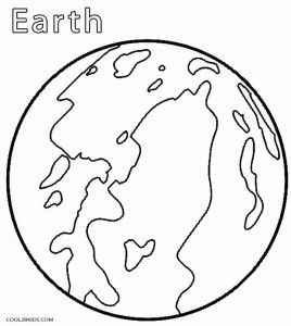 Planet Earth Coloring Page MontessoriInspired Solar