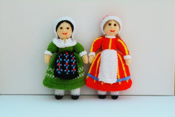 Folk Dolls, France Denmark Doll, Folk Dress, Doll Patterns, Knit Doll, Doll K...