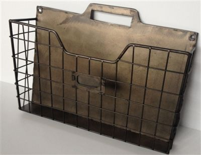 Metal Wall File Holder vintage style metal single wall pocket organizer file holder