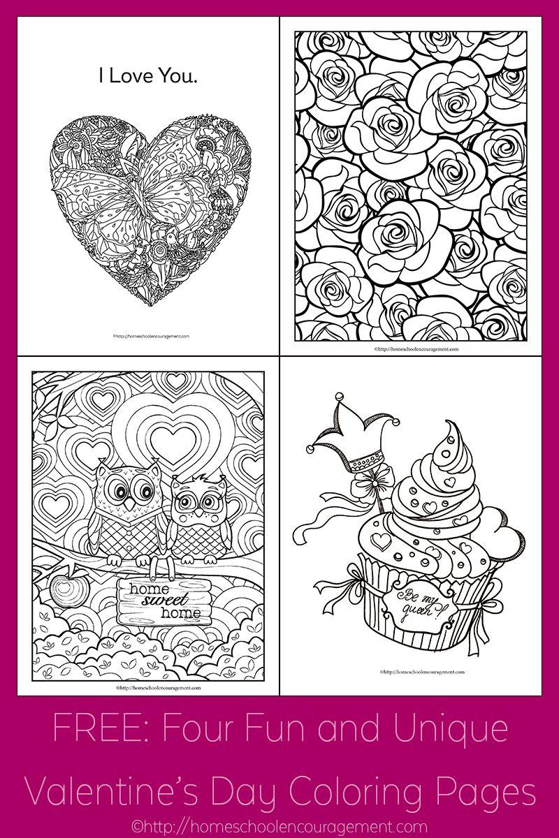 Free Four Fun And Unique Valentine S Day Coloring Pages Valentinstag Snoopy Ausmalbilder Mandala Ausmalbilder