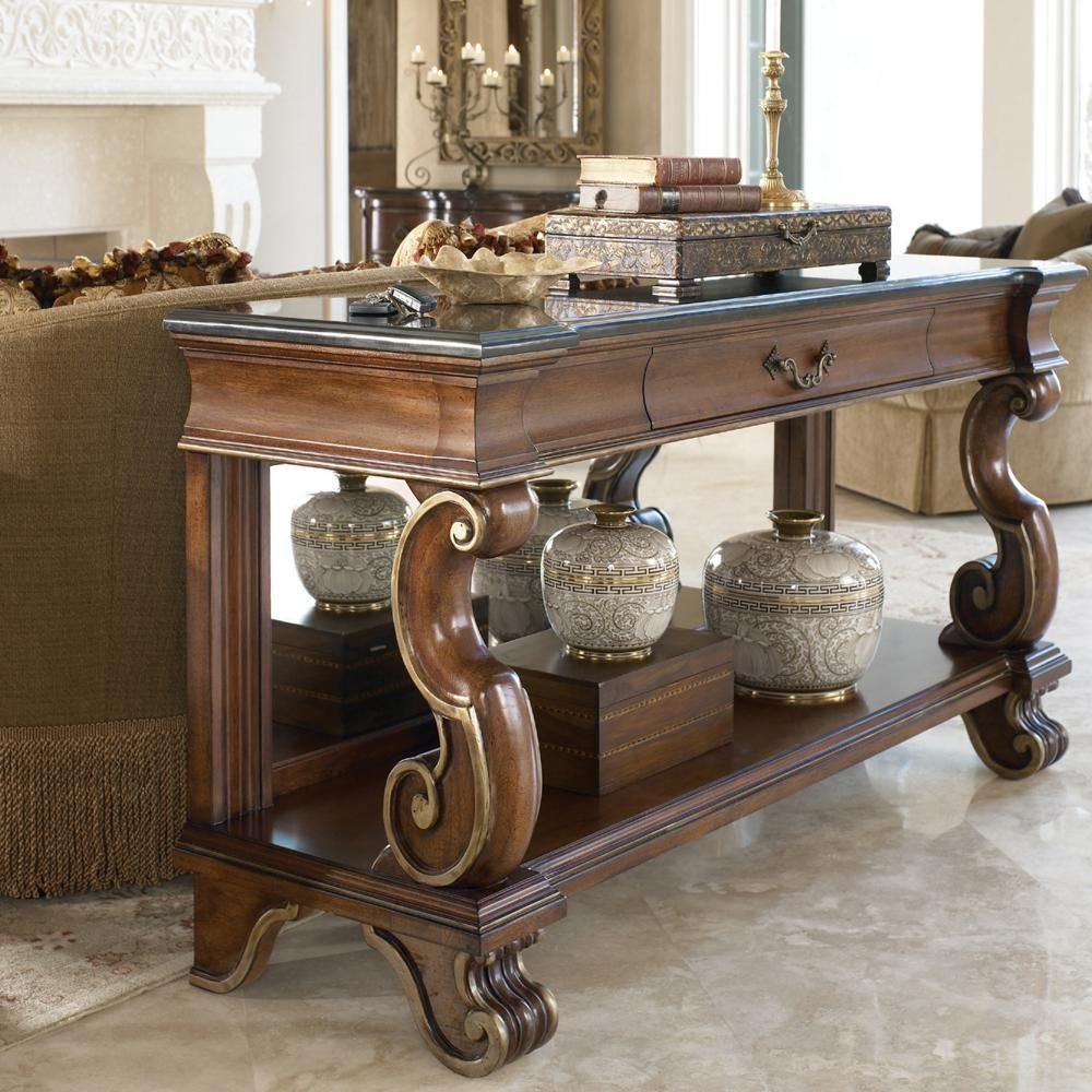 Astonishing Casa Vita Mancini Console With Black Granite Top By Drexel Gamerscity Chair Design For Home Gamerscityorg