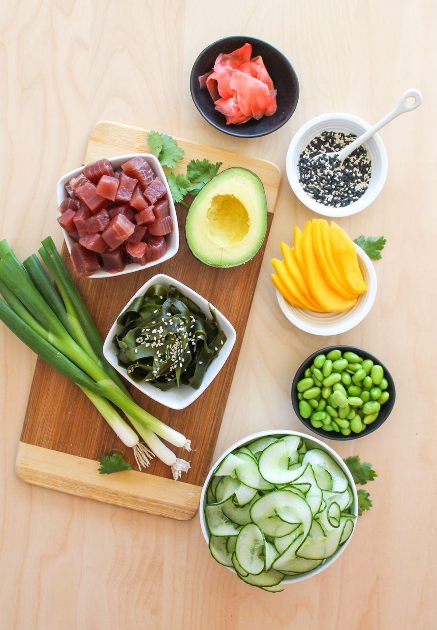 Ahi Tuna Poke Bowls Recettes De Cuisine Cuisine Dietetique Et