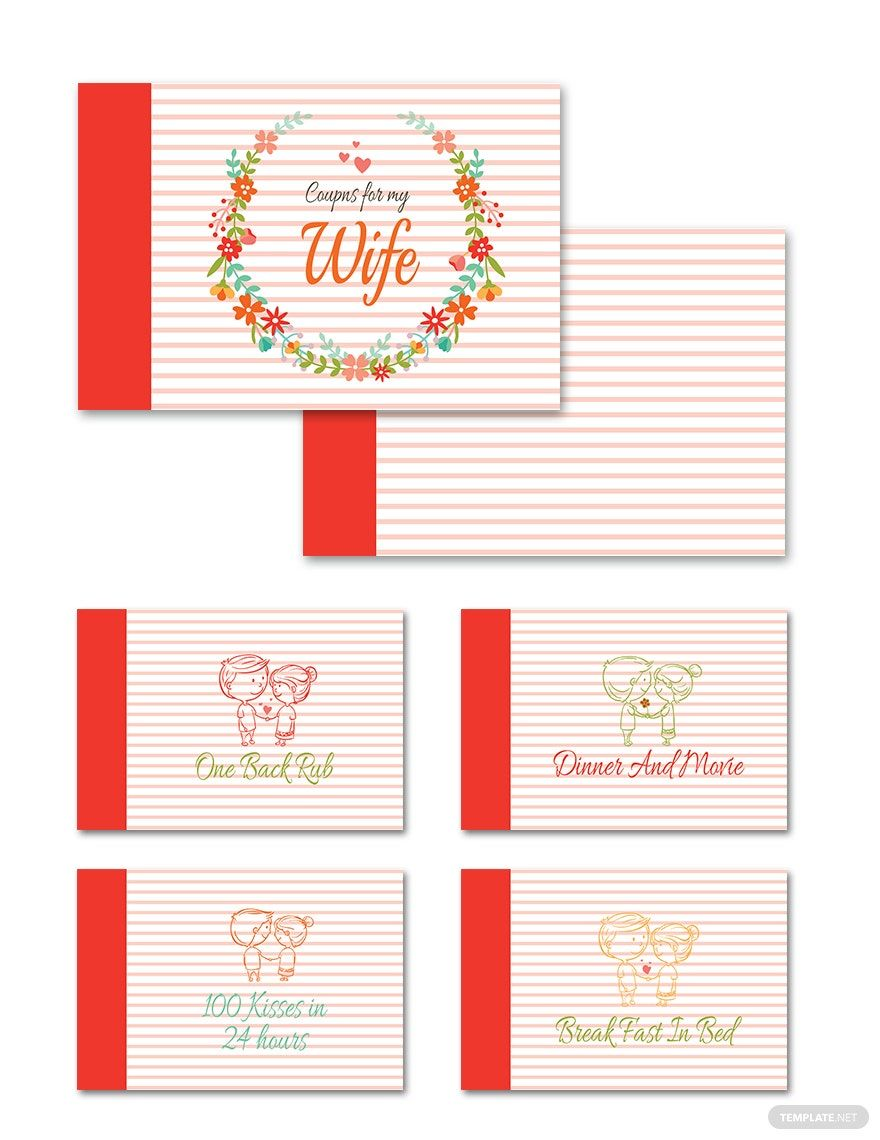 Free Coupon Book For Loving Wife In 2020 Valentines Coupon Book Coupon Book Book Template