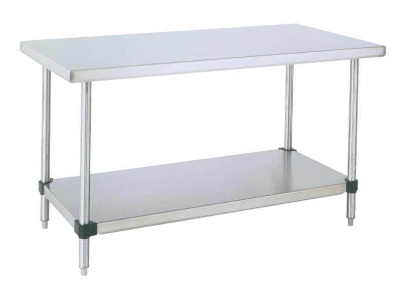 The HD Stainless Steel Work Table w/Bottom Shelf is available in ...