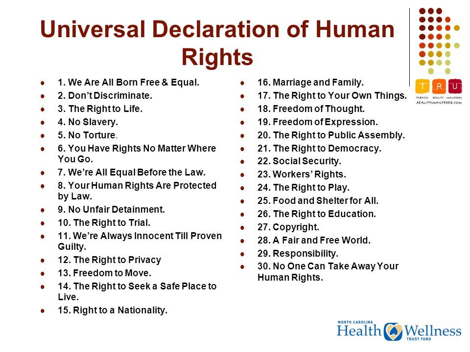 Universal Human Rights Human Rights Universal Prava Cheloveka