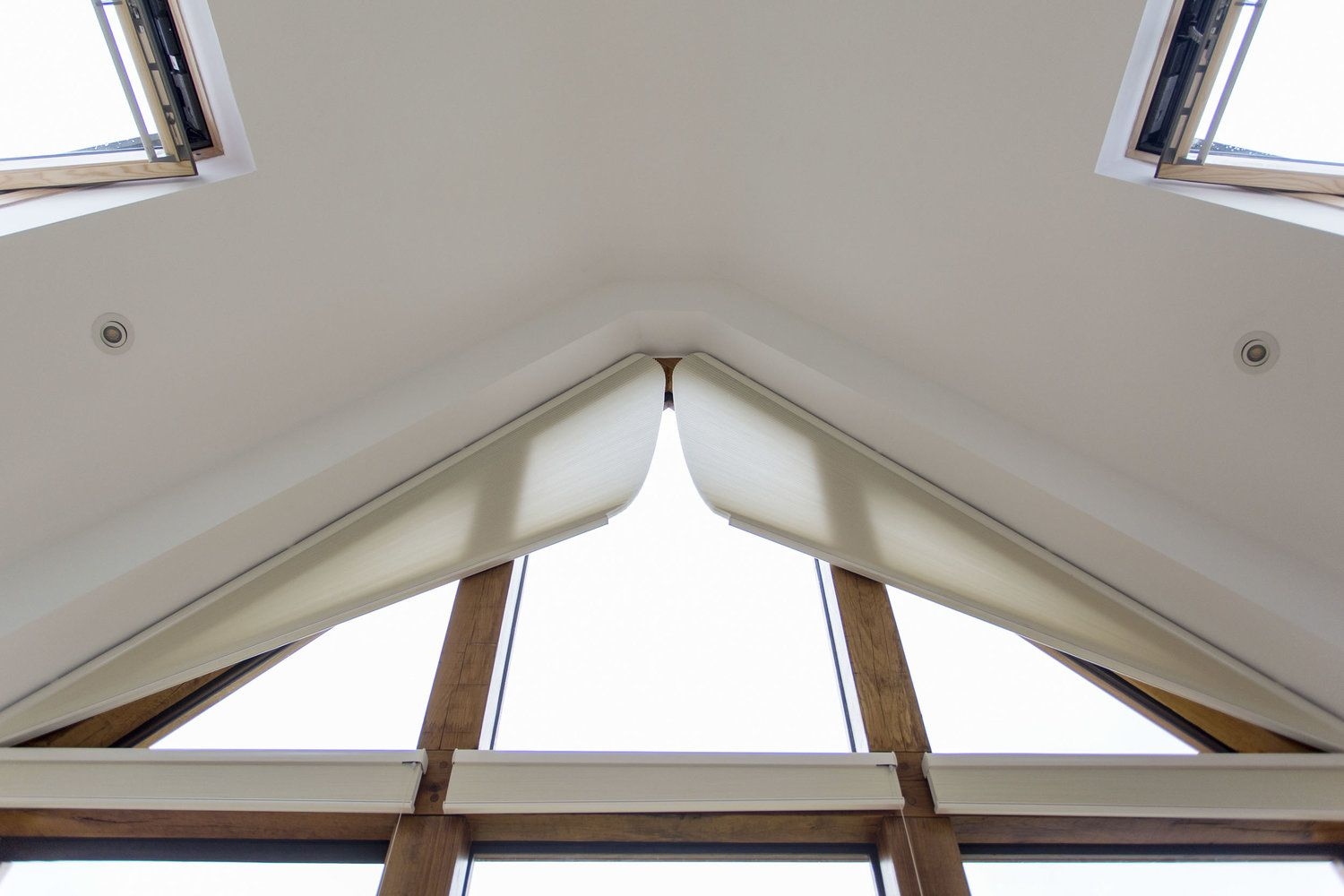 Gable end window ideas  this leicestershire newbuild has a doubleheight glazed gable with