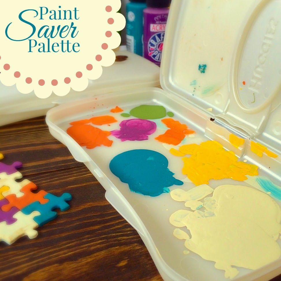 Crafty Mommy S Paint Saver Palette Craft Activities For Kids Crafts For Kids Crafty