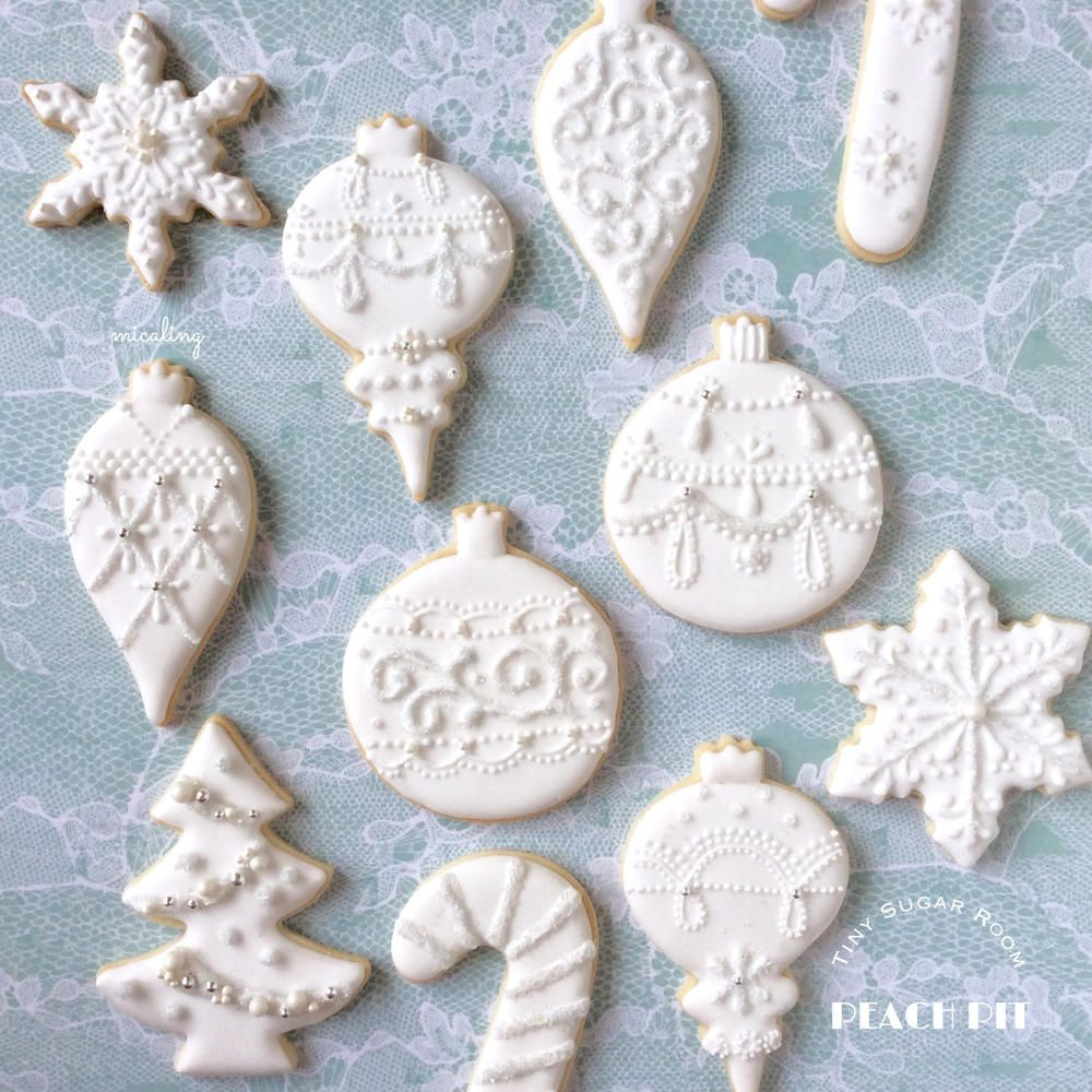 White Christmas Ornaments | Cookie Connection | Christmas ...