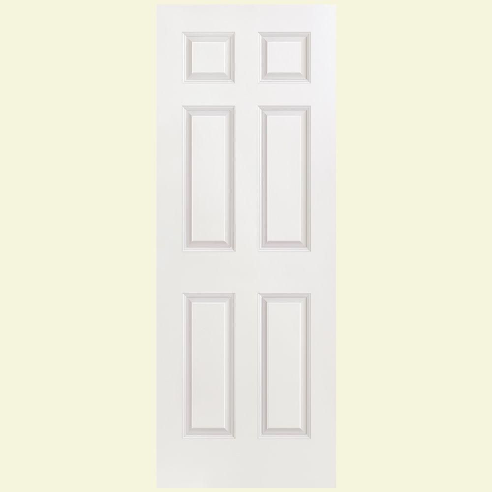 Solidoor Smooth 6 Panel Solid Core Primed Composite Interior Door Slab 16784 The Home Depot