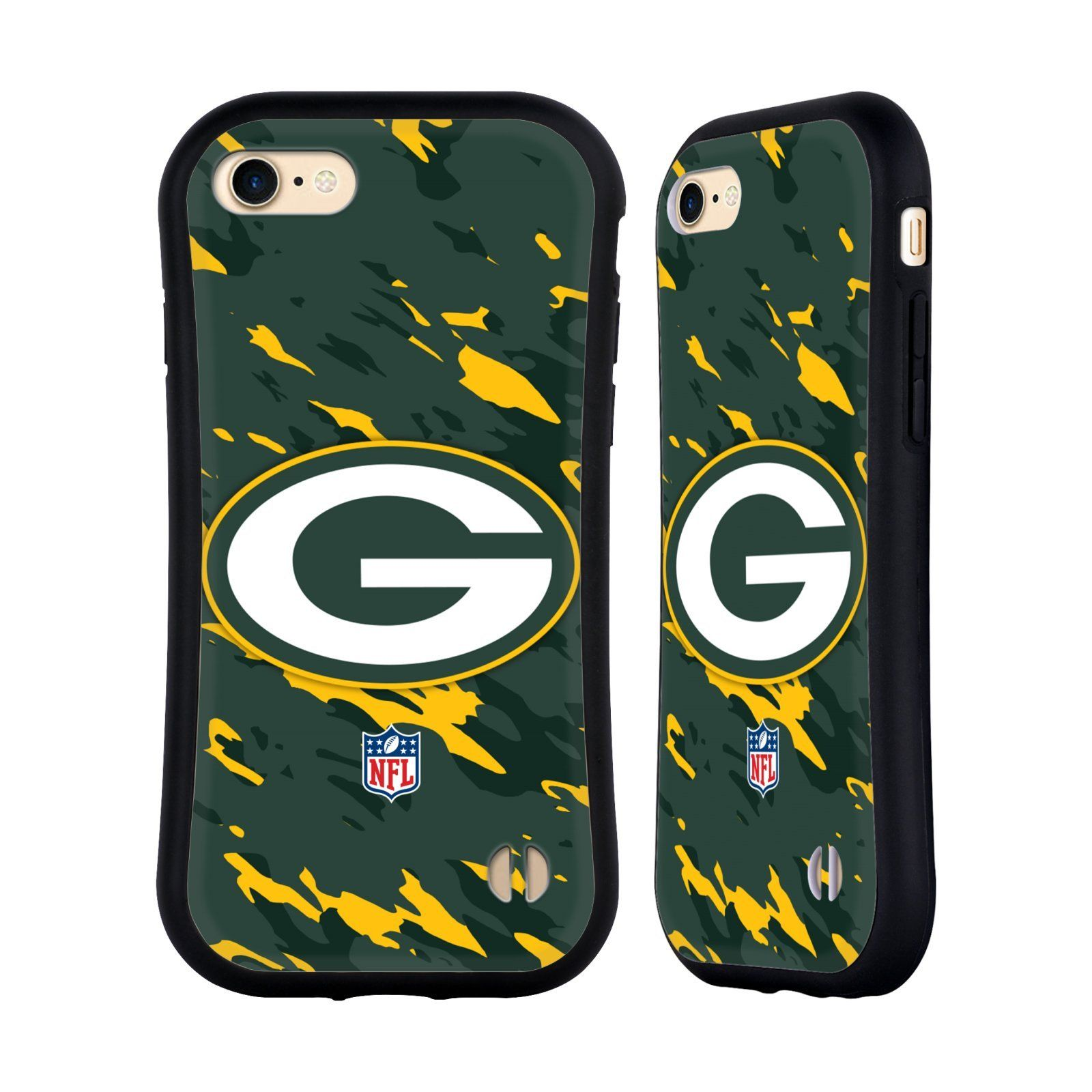 Official NFL Camou Green Bay Packers Logo Hybrid Case for