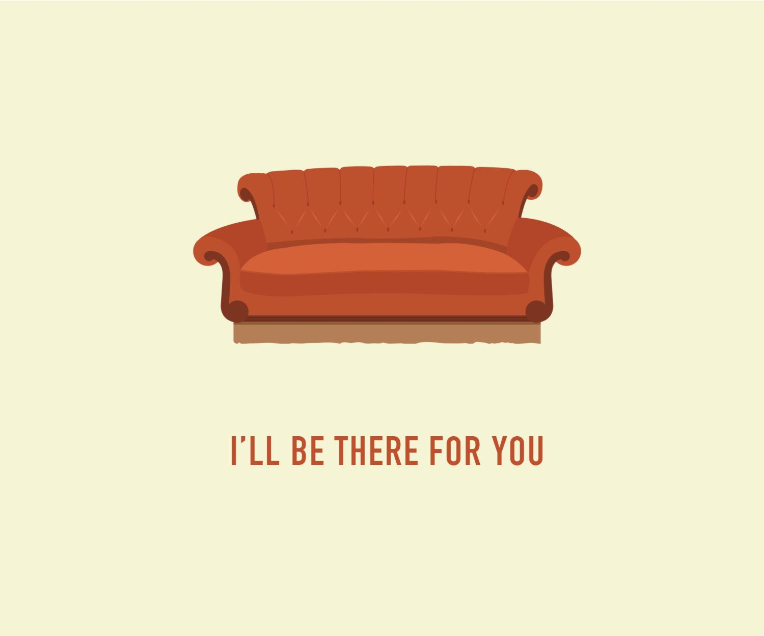 sofa from friends brown tweed tv show card central perk couch any